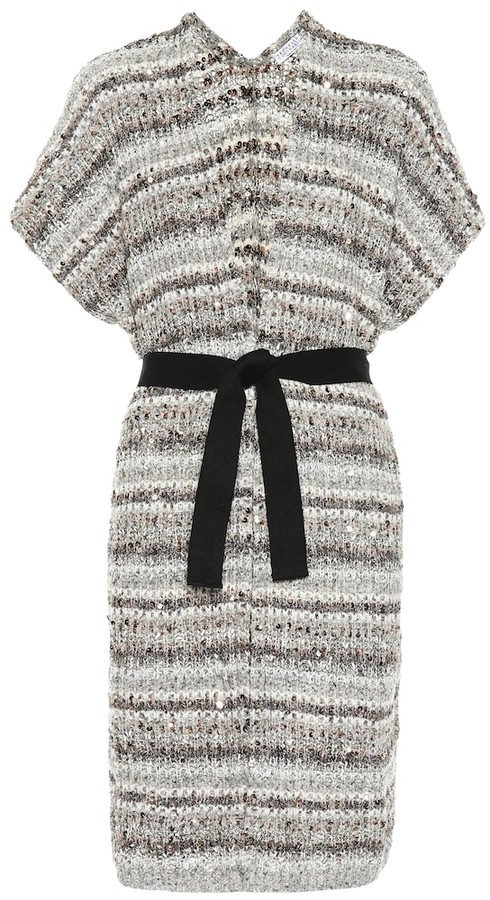 Brunello Cucinelli Sequined cotton-blend cardigan
