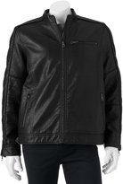 Marc Anthony Big & Tall Slim-Fit Faux-Leather Moto Jacket