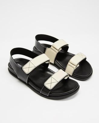 Sol Sana Women's Black Sandals - Elsa Wedge - Size 36 at The Iconic