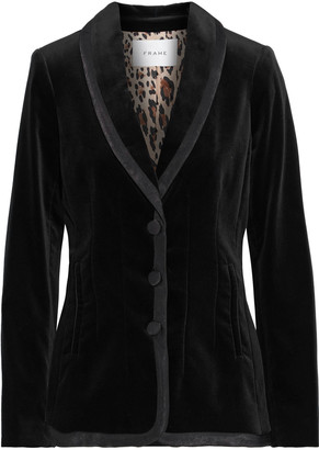 Frame Satin-trimmed Cotton-blend Velvet Jacket