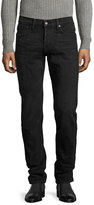 Tom Ford Slim-Fit Denim Jeans, Worn Black
