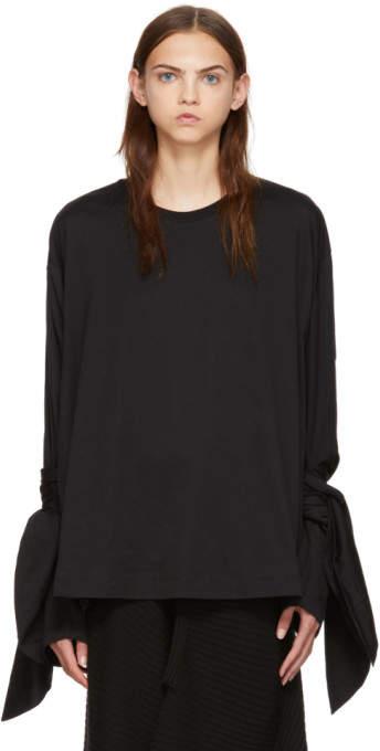 Marques Almeida Black Knot Sleeve T-Shirt