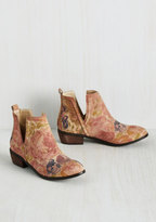 Sbicca Romantic Amble Leather Bootie in Sunlit Roses