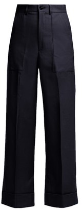 Toga Wool Trousers - Womens - Navy