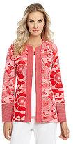 Misook Edna Floral-Print Jacket