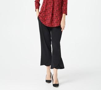 Susan Graver Every Day by Regular Liquid Knit Tulip Hem Crop Pants