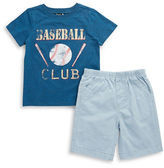 Charlie Rocket Baby Boys Baseball Tee and Shorts Set