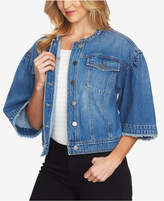 1 STATE 1.STATE Cotton Wide-Sleeve Denim Jacket