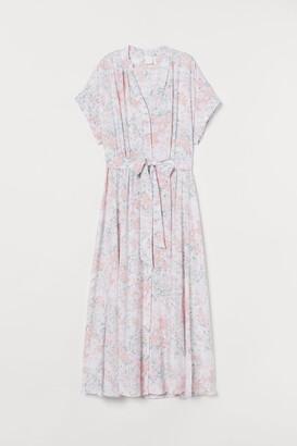 H&M Button-front Dress - White