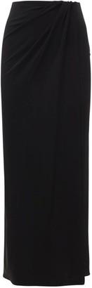 The Andamane Gabrielle Draped Jersey Crepe Midi Skirt