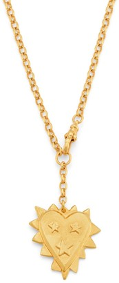Harry Rocks Jagged Heart Necklace - Gold