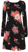 Wallis Black Floral Swing Dress