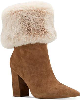 Nine West Chrissa Cuffed Booties Women Shoes