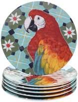 Certified International Paradise 6-piece Melamine Salad Plate Set