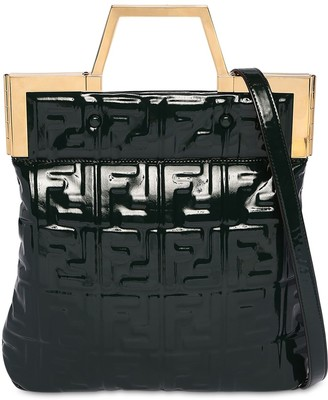 Fendi SMALL EMBOSSED FAUX PATENT LEATHER BAG