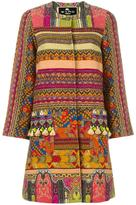 Etro tassel embellished striped coat - women - Cotton/Polyamide/Polyester/Viscose - 42