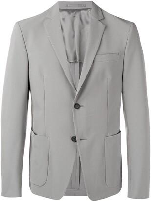 Prada micro-check technical blazer