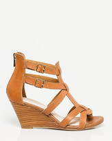 Le Château Leather Strappy Wedge