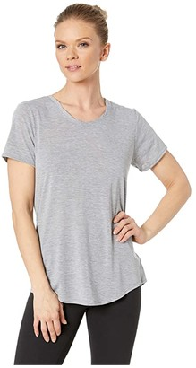Brooks Distance Short Sleeve Top (Heather Ash) Women's Short Sleeve Pullover