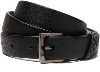 Brunello Cucinelli Bead-embellished Textured-leather Belt