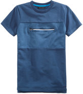 Sean John Next Level Zipper-Pocket T-Shirt, Big Boys (8-20)