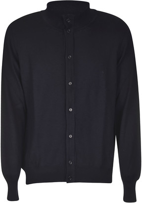 Fay Long Placket Buttoned Cardigan