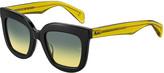Rag & Bone Two-Tone Square Mirrored Sunglasses