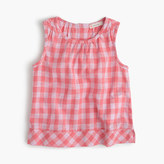 J.Crew Girls' gingham button-back top