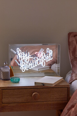 Urban Outfitters Hey Beautiful Neon Box Light
