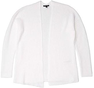 Eileen Fisher Boxy Cardigan (White) Women's Clothing