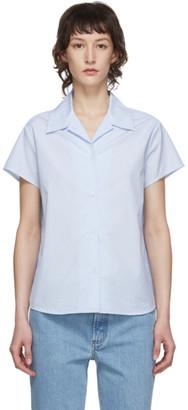A.P.C. Blue and White Marina Shirt