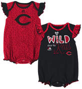 Majestic Cincinnati Reds Team Sparkle Creeper 2-Piece Set, Baby Girls (0-9 months)