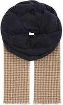 Brunello Cucinelli Dogtooth Blended Hue Cashmere Scarf