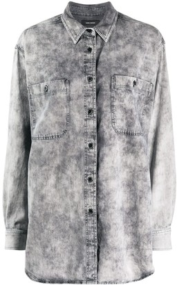 Isabel Marant Long-Line Denim Shirt