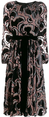 Saloni Printed Tie-Waist Dress