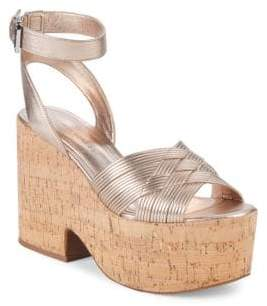 Sigerson Morrison Becca Leather Ankle-Strap Sandals