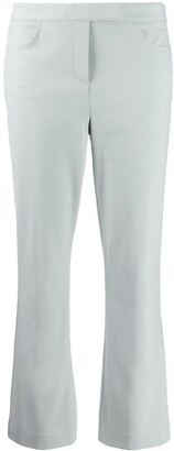 Theory Flared Crop Trousers