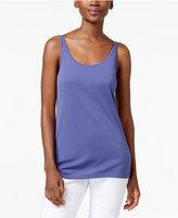 Eileen Fisher Stretch Silk Jersey Scoop-Neck Tank Top