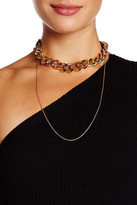Steve Madden Rolo Choker Chain Necklace