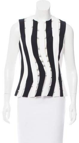 Thierry Mugler Embellished Cutout Top