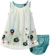Tea Collection Romantica Roma Tulle Dress & Bloomer Set (Baby Girls)