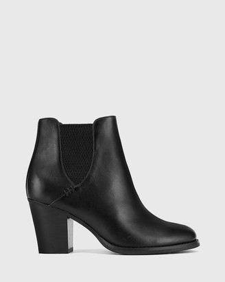 Wittner - Women's Black Heeled Boots - Kessie Round Toe Elasticated Ankle Boots - Size One Size, 42 at The Iconic