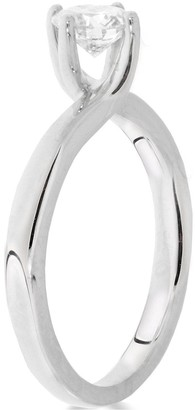 9ctWhite Gold 1ct Diamond Solitaire Twisted Ring