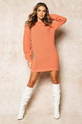 boohoo Crew Neck Jumper Dress