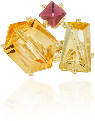 MISUI One-Of-A-Kind 18K Gold Citrine and Beryl Ring