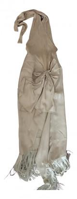 Jacquemus La Bomba Beige Wool Dresses