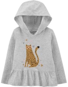 Carter's Baby Girl Leopard Hooded Jersey Tee