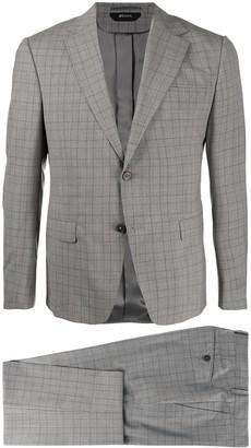 Ermenegildo Zegna Grid Check Wool Blend Single-Breasted Suit