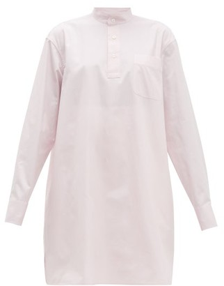Connolly - Band Collar Cotton Shirt - Light Pink