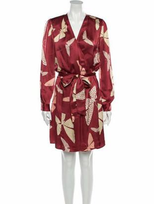 Giada Forte Silk Knee-Length Dress w/ Tags Red